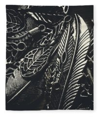 Beauty In Metallic Autumn Fleece Blanket