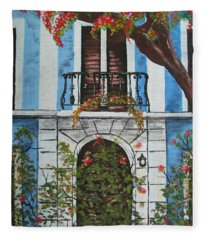 Beauty In Old San Juan Fleece Blanket