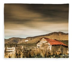 Beauty In Rural Dilapidation Fleece Blanket