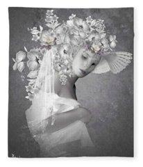 Beauty In The Eye Fleece Blanket
