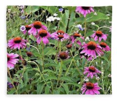 Beauty In The Flower Garden Fleece Blanket