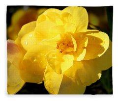Beauty In Yellow Fleece Blanket