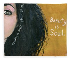 Beauty Is Soul Fleece Blanket