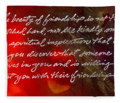 Beauty Of Friendship Fleece Blanket