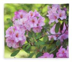 Beauty Of Pink Rhododendron Fleece Blanket