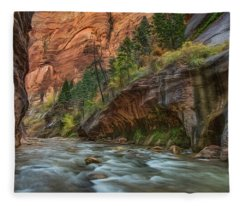 Beauty Of The Narrows Fleece Blanket