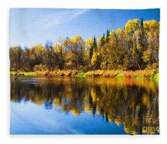Beauty On The Big Fork Fleece Blanket