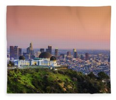Beauty On The Hill Fleece Blanket