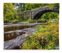 Beaver Bridge Fleece Blanket