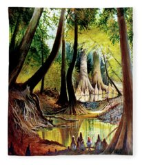 Beaver Dam On Village Creek Fleece Blanket
