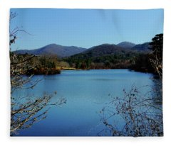 Beaver Lake View Fleece Blanket