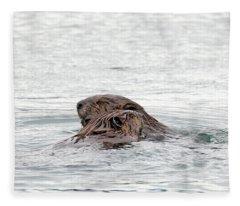 Beavers Snuggling Fleece Blanket