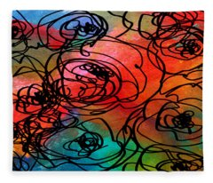 Bed Of Roses Fleece Blanket