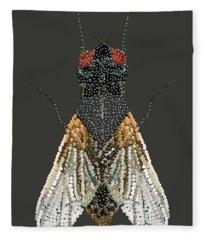 Bedazzled Housefly Transparent Background Fleece Blanket