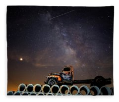 Sleeping Alone Under The Stars  Fleece Blanket