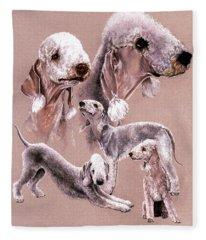Bedlington Terrier Fleece Blanket