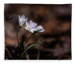 Bee And Flower Fleece Blanket