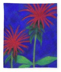 Bee Balm Sparklers Fleece Blanket