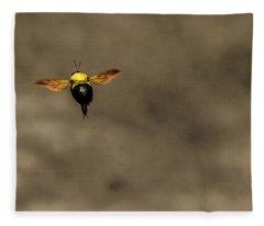 Bee Dance Fleece Blanket