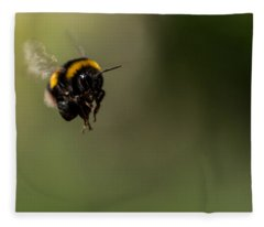 Bee Flying - View From Front Fleece Blanket