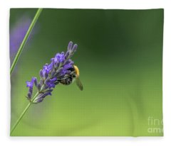 Bee On Lavender Fleece Blanket