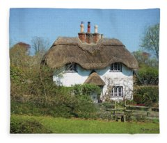 Beehive Cottage Fleece Blanket