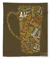 Fleece Blanket featuring the digital art Beer Lovers Tee by Edward Fielding