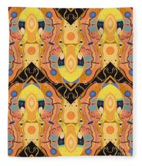 Bees Knees - T J O D 48 Arrangement Multiplied Fleece Blanket