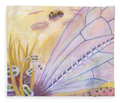 Bee's Wings Fleece Blanket