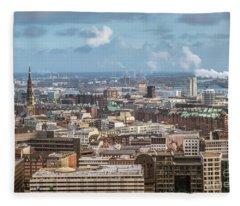 Befor A Snow Storm Hamburg Fleece Blanket