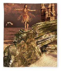 Before The Sun Sets Fleece Blanket