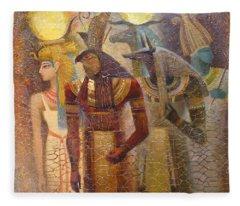 Beginnings. Gods Of Ancient Egypt Fleece Blanket