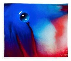 Behind Blue Eye Fleece Blanket