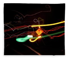 Behind The Lights Fleece Blanket