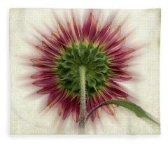 Behind The Sunflower Fleece Blanket