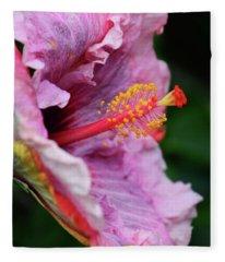 Behold The Hibiscus Fleece Blanket