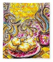 Beignets For Breakfast Fleece Blanket