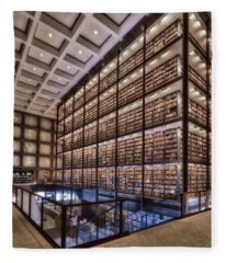Beinecke Rare Book And Manuscript Library Fleece Blanket