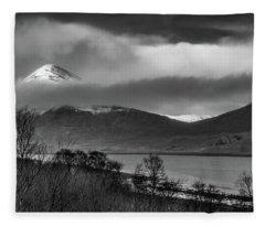 Beinn Na Cro And Loch Slapin, Isle Of Skye Fleece Blanket