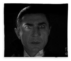 Bela Lugosi  Dracula 1931 And His Piercing Eyes Fleece Blanket