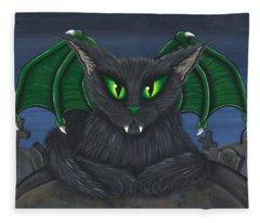 Bela Vampire Cat Fleece Blanket