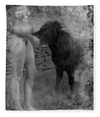 Belfast Nude With Mininature  Fleece Blanket