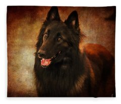 Belgian Tervuren Shepherd Fleece Blanket