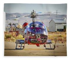 Bell 47 Fleece Blanket