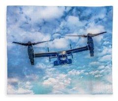 Bell Boeing V-22 Osprey  Fleece Blanket