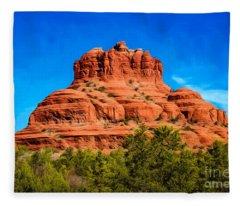 Bell Rock Tower Fleece Blanket