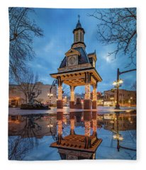 Bell Tower  In Beaver  Fleece Blanket