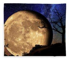 Bella Luna From Another World Fleece Blanket