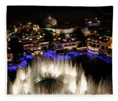 Bellagio Hotel Fountain Fleece Blanket
