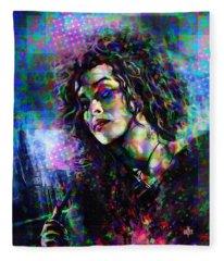 Bellatrix Lestrange Halftone Portrait Fleece Blanket